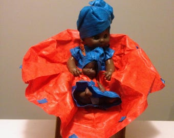 """12"""" DOLL - Dressed in Authentic African Attire-West Africa"""