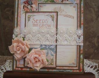 Graphic 45 - Handmade Card - Secret Garden