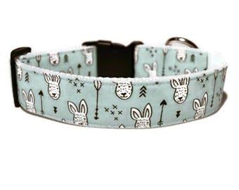 Easter Dog Collar, Blue Easter Dog Collar, Easter Bunny Dog Collar, Arrow Dog Collar, Blue Dog Collar