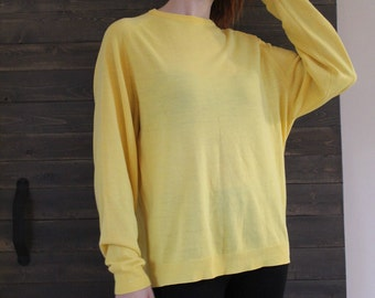 Yellow sweater | Etsy