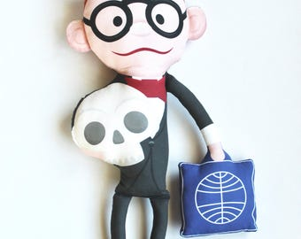 Felix Flanken from Mad Monster Party Handmade Plush Pillow Doll