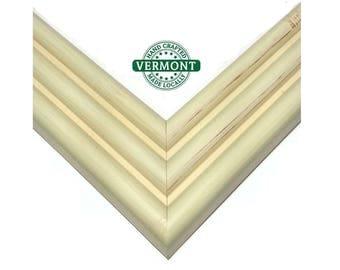 Euro Modern Ivory White Picture Frame, Real Wood, Distressed w/Glass, Backer & Hardware 3x5,4x6,5x7,9x9,12x12,11x14,23x27,20x24.24x36