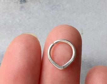 20 18 16 gauge Chevron Septum Ring. 925 Sterling Silver, 14K Gold Filled , Rose Gold Filled.