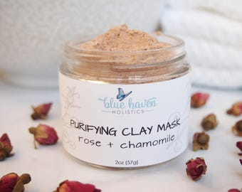 Rose Clay Face Mask, French Rose Clay, Rose Clay, Rose Mask, Clay Mask, Face Polish