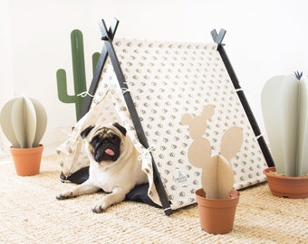 Desert dog teepee tent with bedding. Oh yes, FREE shipping!