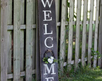 Welcome Porch Sign / Wreath welcome Sign / Porch / Welcome Sign ? Exterior Sign