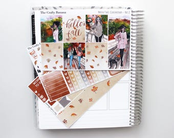 Hello Fall Mini Kit 2 - Hello Fall Collection - Autumn Planner Stickers - 3 Sheets