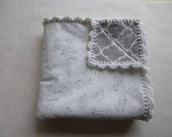 Double Sided Flannel Baby Blanket
