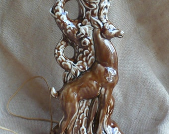 Vintage Deer Lamp, Vintage Lighting, Hull Haeger Table Lamp