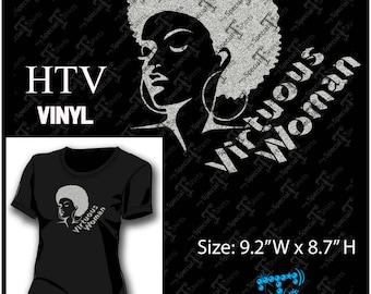 Instant Download Vector Design, VIRTUOUS WOMAN, Digital Download (.svg, dxf .eps) Vinyl Transfer HTV