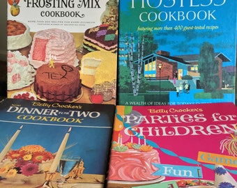 Set of Vintage Betty Crocker Cookbooks