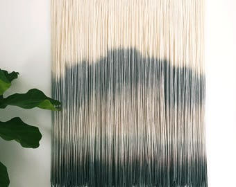 CUSTOM SMALL Wool Dip Dyed Wall Hanging || Fiber Wall Hanging || Boho Handmade Tapestry