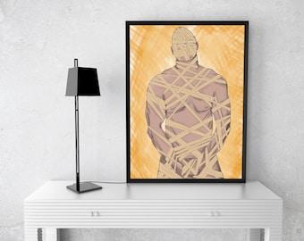 Mummy Man Print