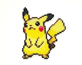 Pikachu Pokemon Perler Fused Bead Sprite