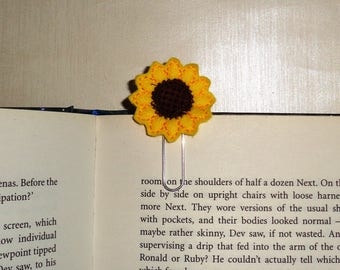 Sunflower -  Book - Paper Clip  Felt Planner Clip - Planner Accessory - Stationery - Cute Paper Clip - Bookmark - Planner Clip