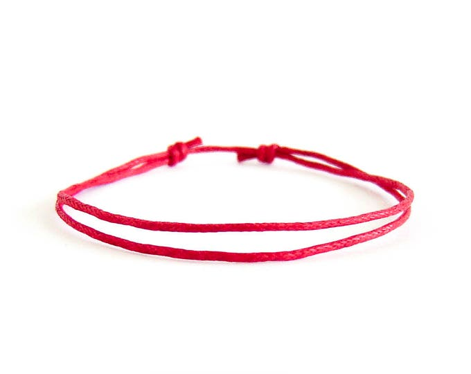 String Bracelet Circle, Red String Bracelet  For Good Luck. For Men And Women. Yellow, Green, Red or Blue Thread