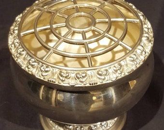 Vintage Silver Plated Rose Bowl/Vase by IANTHE Made in England