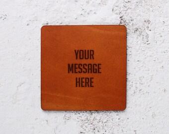 Personalised Coaster Leather , Wedding day Gift,Personalise it, New years Gift,Personalised gifts,Leather Coasters,Leather coaster Gift