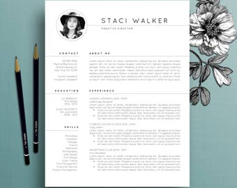 Modern Resume Template 3pk, CV Template + References Letter, Creative Resume Template, Professional Resume, Instant Digital Download