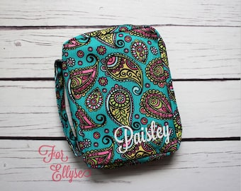 Paisley Bible Cover - soft sided Bible or journal carrying case - Personalized
