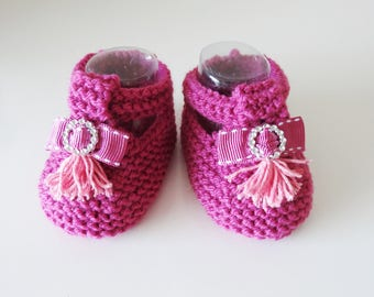wool Baby Slippers handmade - baby - wool slippers - shoes