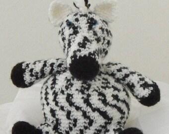 Zebra black and white crochet amigurumi