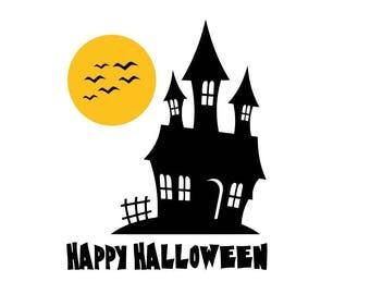Happy Halloween SVG , Happy Halloween Cut File, Halloween Cricut SVG, Halloween Clipart, Fall svg dxf eps png