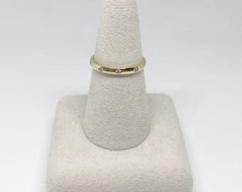 10k Yellow Gold Natural Diamond (0.06 ct) Ring, Appraised 1,125 CAD