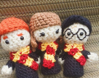Crochet Harry Potter Trio