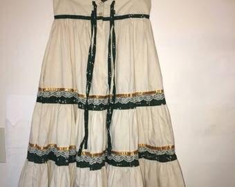 Rare Vintage Gunne Sax Floral Corset Button Skirt