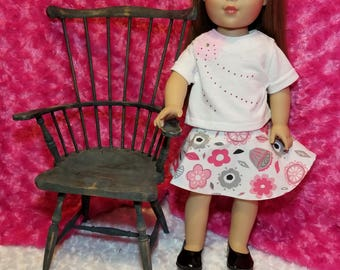 Rhinestone T-Shirt and Half-Circle Skirt Outfit - American Girl & Friends