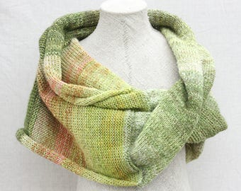 Evening wrap shawl / Bridal capelet / Handknit mohair shawl / Oversized knit shawl / chunky knit wrap - Rhubarb 2