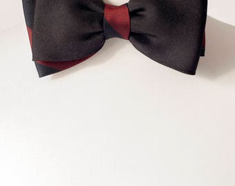 Black and Burgundy Colour Bow Tie, Bow Ties, Mens Bowties, Wedding bow tie, bow tie for men, Christmas Gift, mens tie