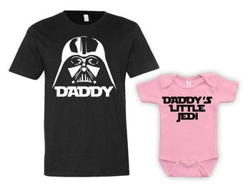 Daddy And Me Clothing Dad And Daughter Matching Set Shirts Father And Daughter Gift Father Daughter Matching Shirts Bodysuit - JM214-215