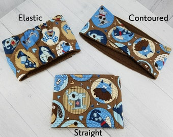 Male Dog Belly band - dog diaper - potty training aid - house breaking - incontienence wrap - Small to Large -Brown Pup - READY TO SHIP