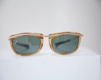 Vintage B&L RAY BAN w0742 Tortoise/Matte Gold Trim G15 Olympian III Sunglasses