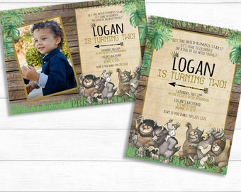 Where The Wild Things Are Birthday Invitation, Where The Wild Things Are Invitation, Where The Wild Things Are Printable Invitation and Sign