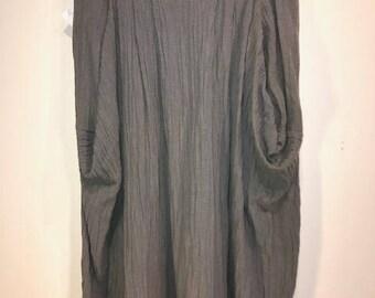 Vintage Cotton St Barts Green Gauze Midi Skirt