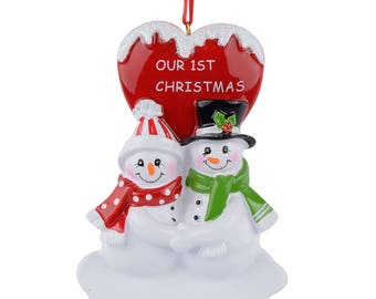 Couple's 1st Christmas Personalized Christmas Ornament Our First Christmas