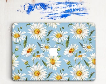 Camomile Macbook Pro 13 Hard Case Flowers Macbook Pro Case 15 Macbook Pro 13 Inch Case Laptop Florals Macbook Case Pro 13 Macbook CGMC0084