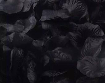 Black Silk Rose Petals  1000 pcs   AC1