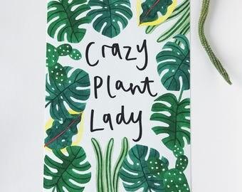 Crazy Plant Lady A4 Print
