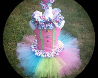 Clown Costume, Circus Costume, Circus Birthday Outfit, Clown Birthday Outfit, Halloween Costume, Size 6 month - size 6