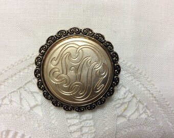 W Germany Signed Gold Tone Scarf Clip