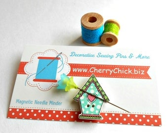 Bird House Needle Minder - Needle Minder - Needle Magnet - Needle Keeper -  Gift for Quilter - Embroidery - Cross Stitch - Cherry Chick
