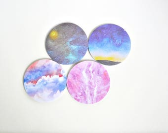 Marbled Galaxy v2 Sticky Notes, Sticky Note Tabs, Post It - PJ257