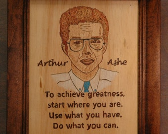 Arthur Ashe - portrait and quote