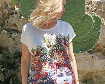 t-shirt Sicilian graphic TESTE DI MORO