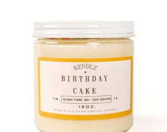 Birthday Cake, Soy Candle, Gifts under 30, Phthalate Free, Gifts for her