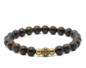 Bronzite Bracelet - Brown Bracelet, Gemstone Bracelet, Vegan Jewellery, Vegan Bracelet, Gifts for Her, Gifts for Him, Handmade Bracelet